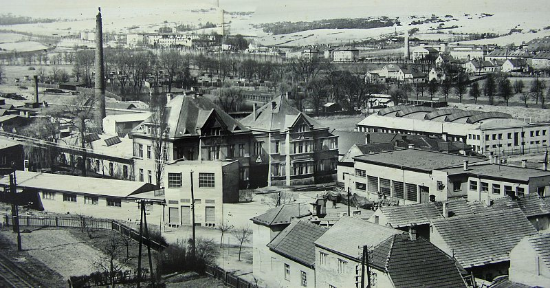 Period photograph of the factory around 1959