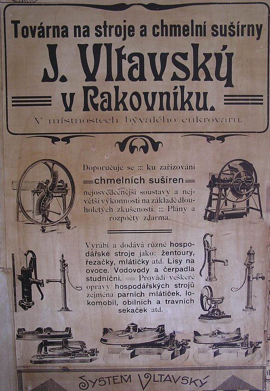 RAdvertisement of Vltavský factory